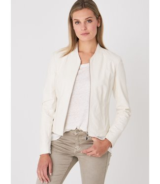 REPEAT cashmere Leather jacket milk