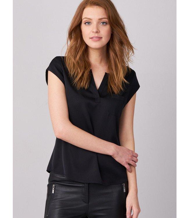 REPEAT cashmere Zijden top black