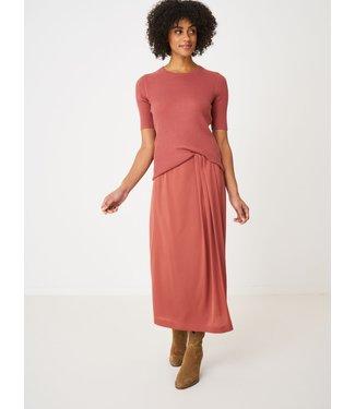 REPEAT cashmere Silk skirt cinnamon