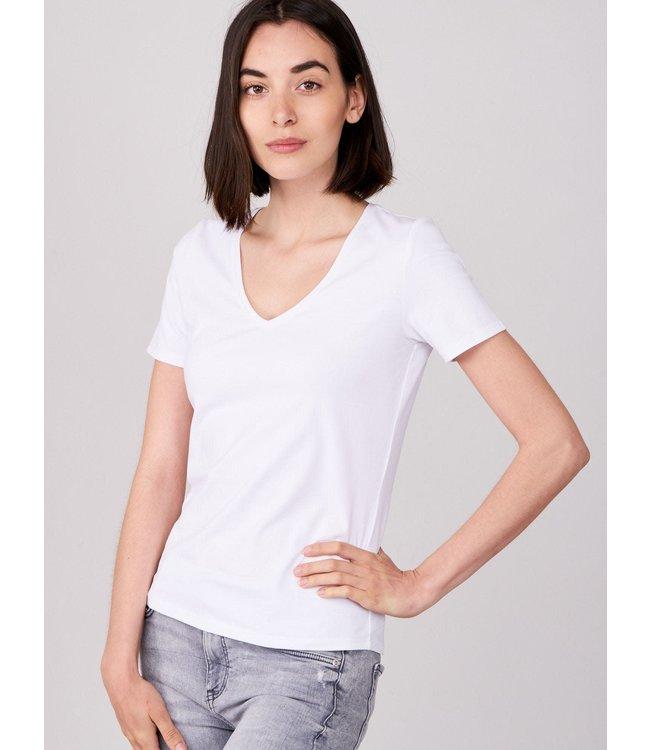 REPEAT cashmere Shirt white V-hals