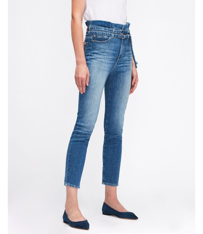 7 For All Mankind Slim paperbag jeans mid blue