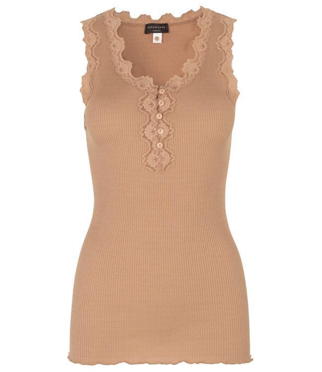 Rosemunde Silk top lace tan