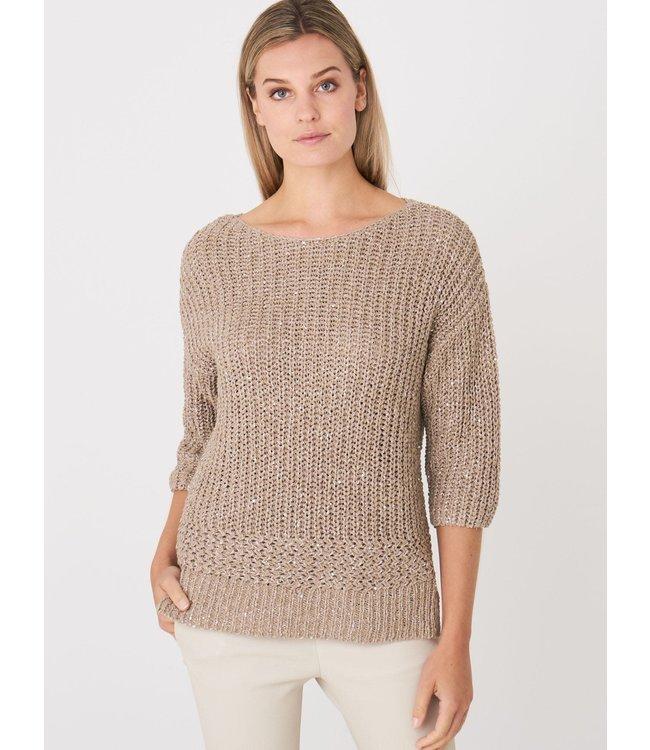 REPEAT cashmere Sweater beige
