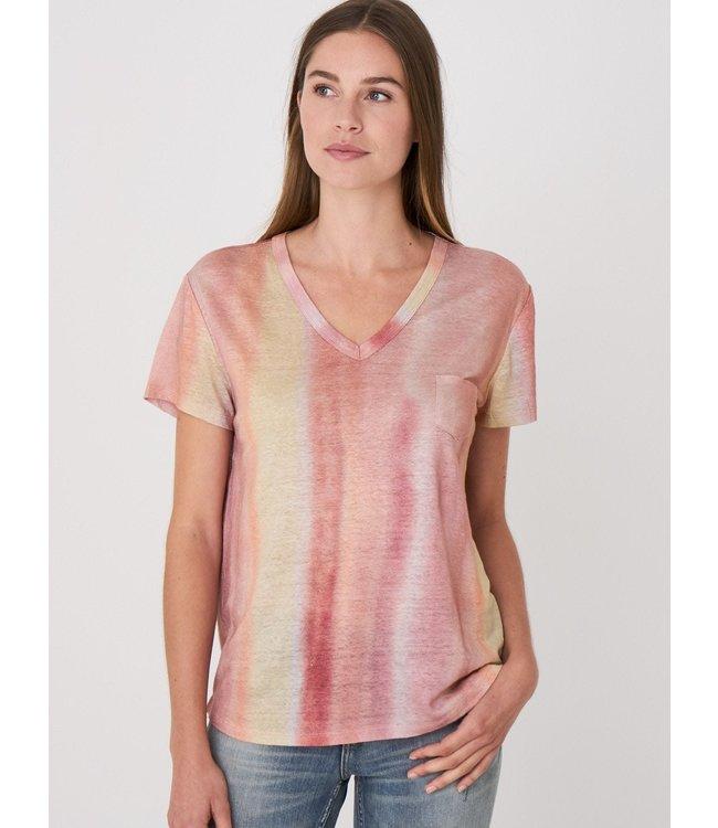 REPEAT cashmere Shirt stripes linen