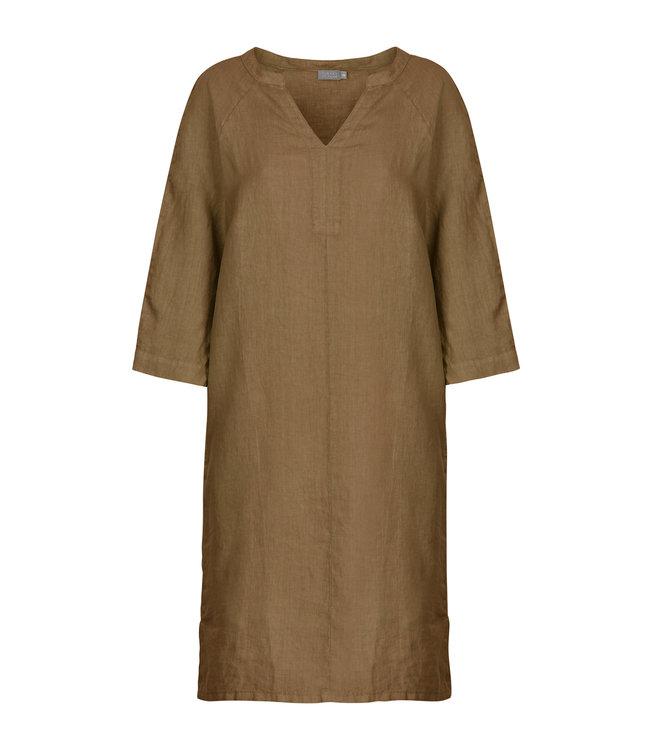 No Man's Land Dress linen toffee