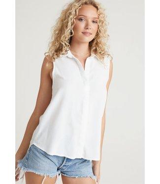 Bella Dahl Button Down Shirt White