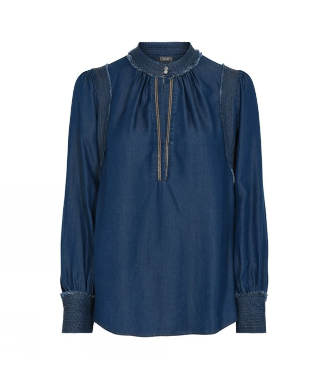 Gustav Groa shirt ink blue