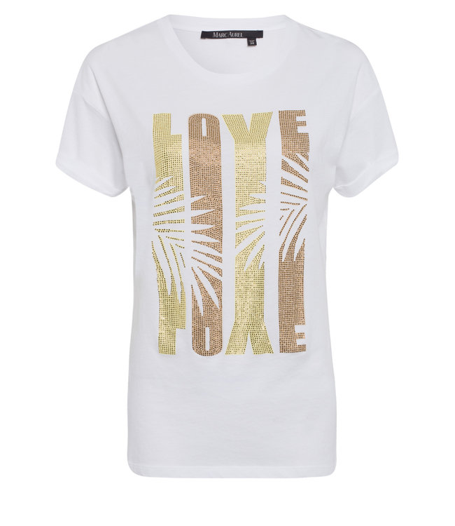 Marc Aurel Shirt white yellow