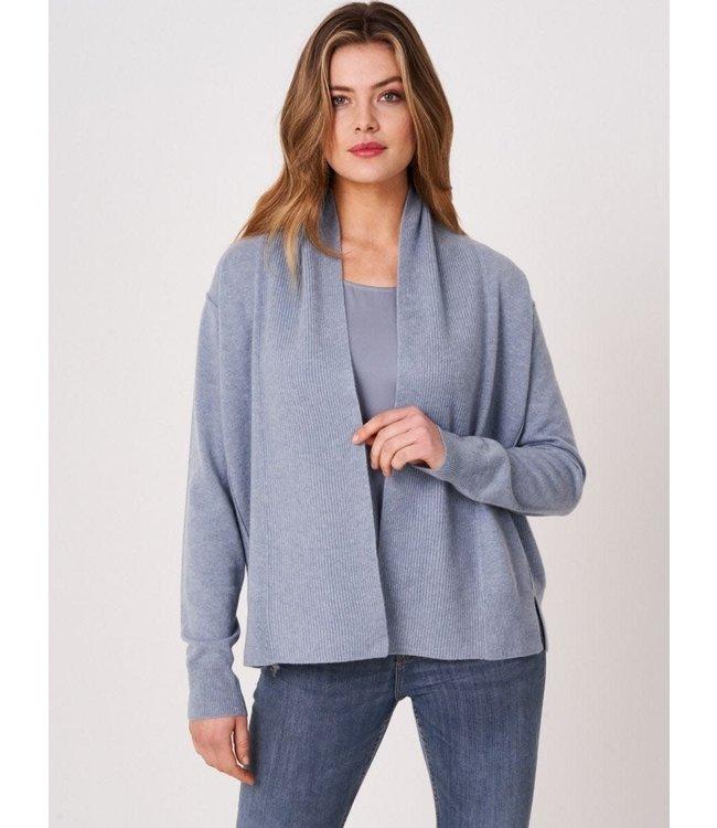 REPEAT cashmere Cashmere cardigan dusty blue