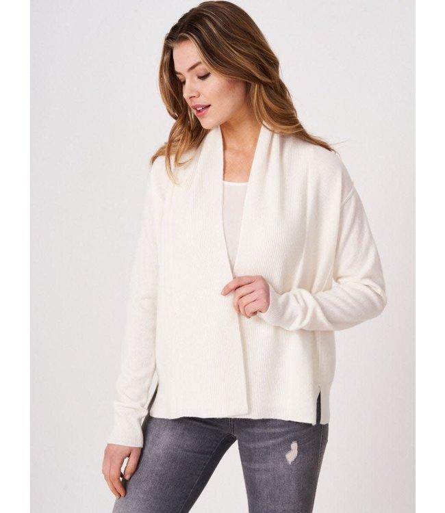 REPEAT cashmere Cashmere cardigan cream