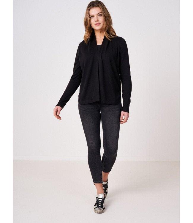 REPEAT cashmere Cardigan black