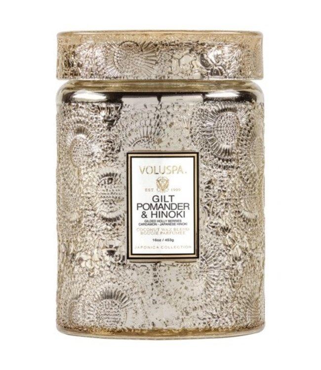 Voluspa GILT POMANDER & HINOKI - large jar candle