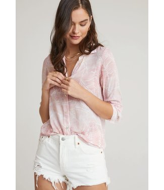 Bella Dahl Button Down Shirt Coral Quartz