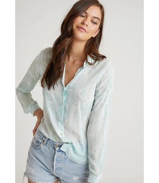 Bella Dahl Button Down Shirt Havana Olive