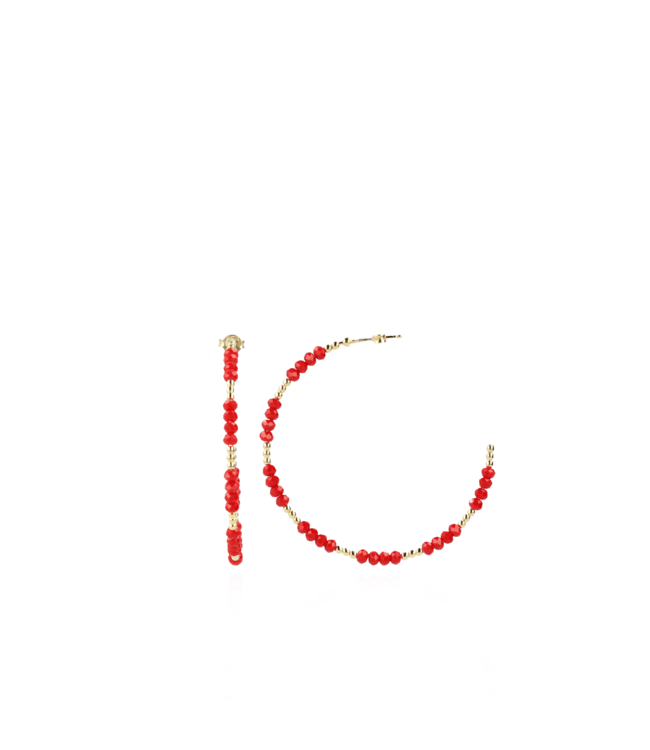 LOTT. gioielli Rode oorbellen Ella creool L