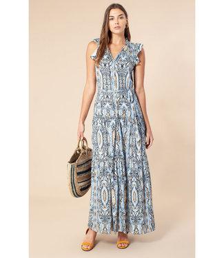 Hale Bob Bridget maxi dress blue