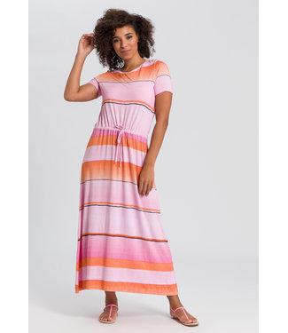 Marc Aurel Lange jurk pink