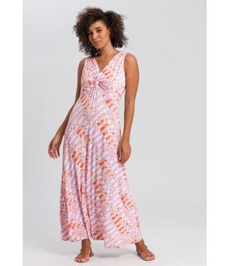 Marc Aurel Lange jurk pink print