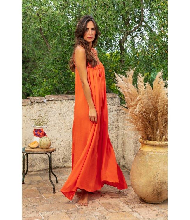 Genesis DALI long dress Plain Flame