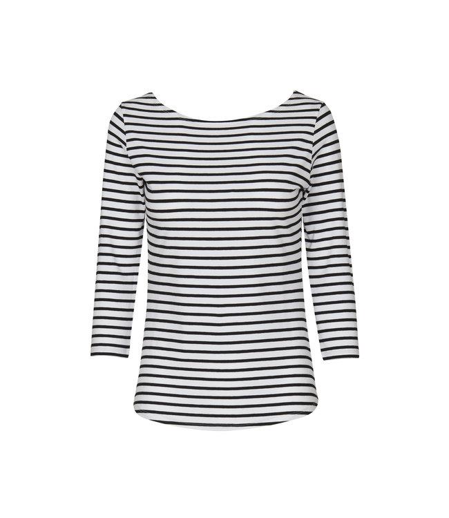 No Man's Land Shirt black stripe LS