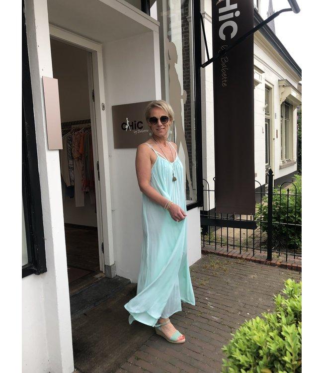 Genesis DALI long dress Plain Aqua