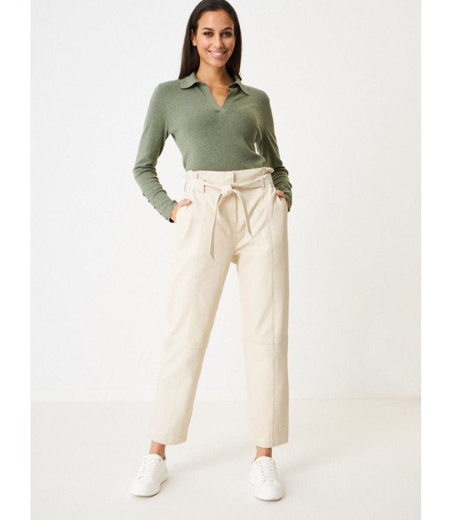 REPEAT cashmere Pants lamb leather almond