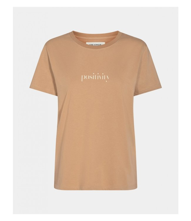 Sofie Schnoor T-shirt camel Positivity