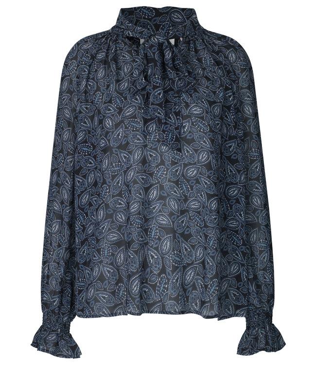 Rosemunde Manila blouse blue paisley print