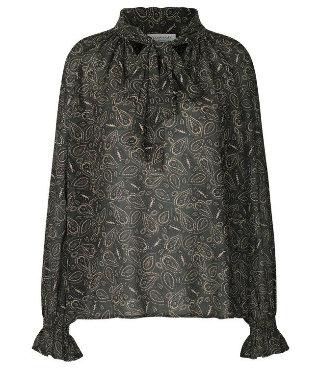 Rosemunde Manila blouse green paisley print