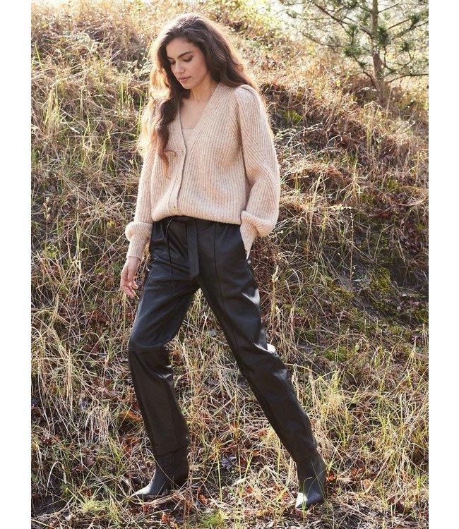 REPEAT cashmere Pants lamb leather morro