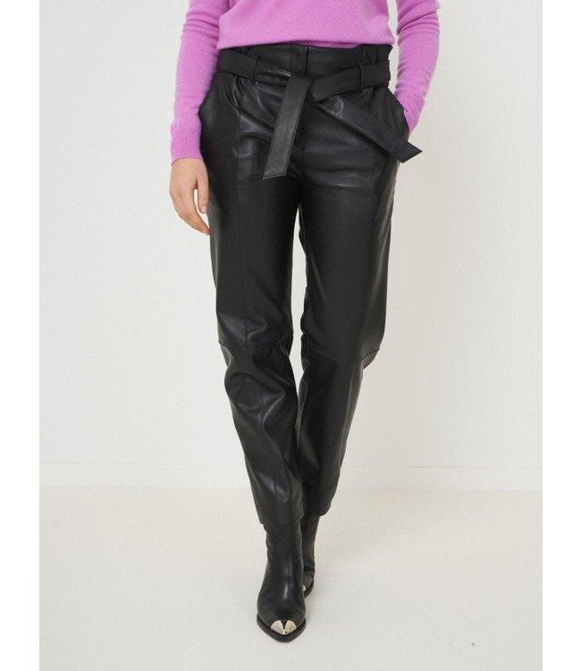 REPEAT cashmere Pants lamb leather black
