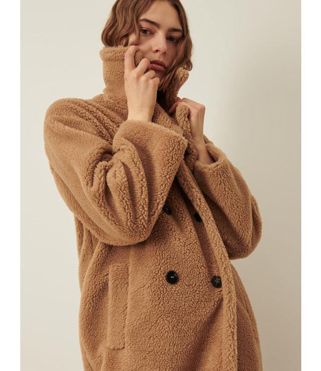 Marella Teddy Coat Perak camel