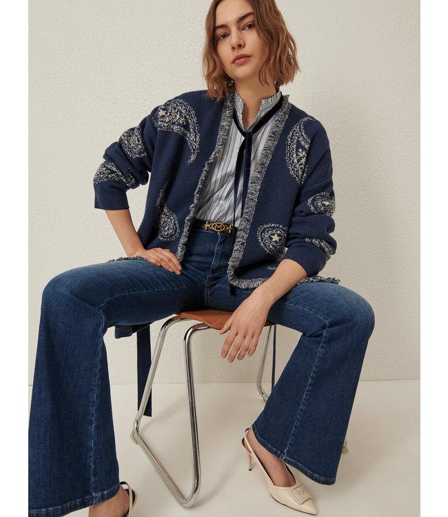 Marella Long cardigan Sonale blue jeans