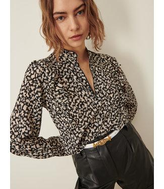 Marella Ruffle blouse Guaina natural