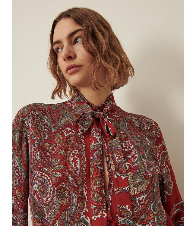 Marella Georgette blouse Imbarco red