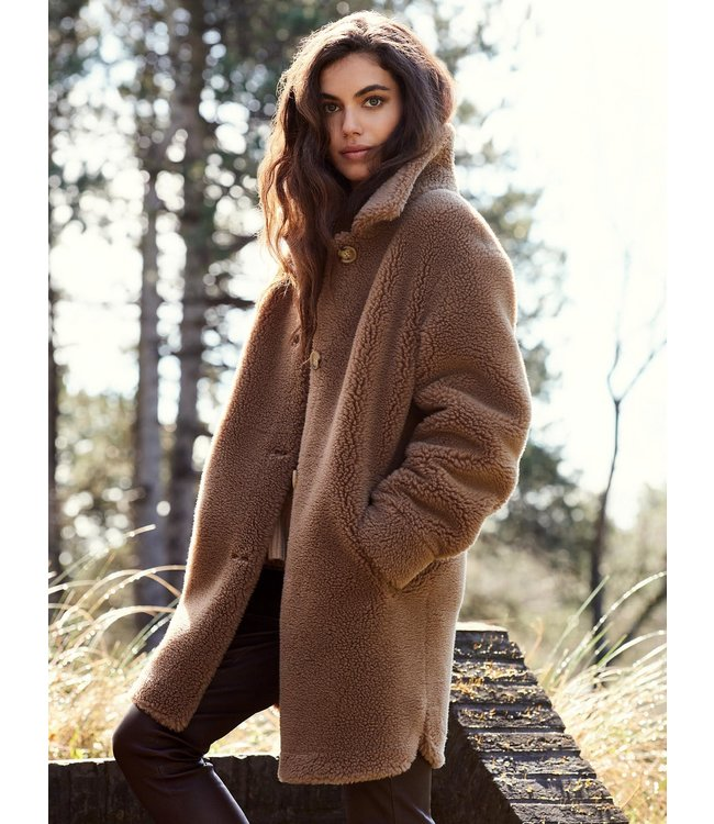 REPEAT cashmere Jacket long camel