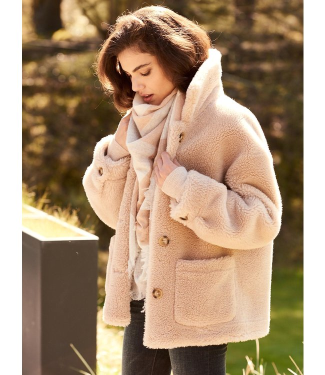 REPEAT cashmere Jacket short blush