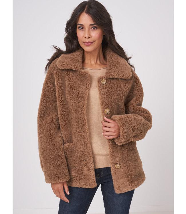 REPEAT cashmere Jacket short camel