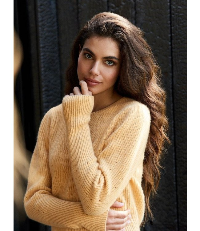 REPEAT cashmere Cashmere sweater popcorn