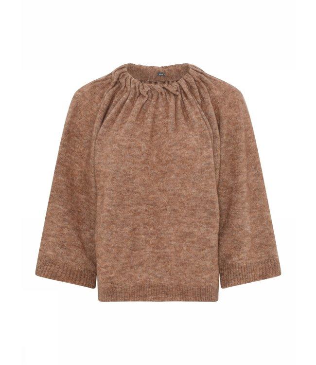 Gustav Miabella knit cape rouge
