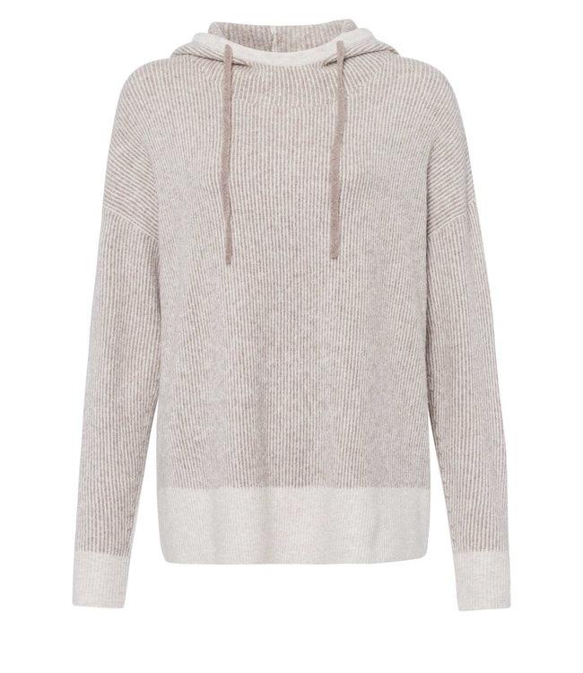 Marc Aurel Sweater light taupe melange capuchon