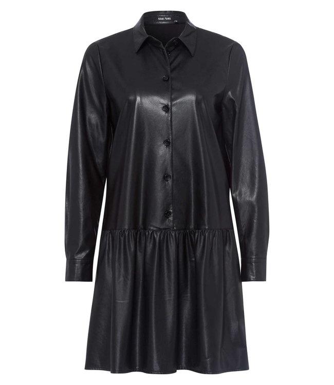 Marc Aurel Dress vegan leather black