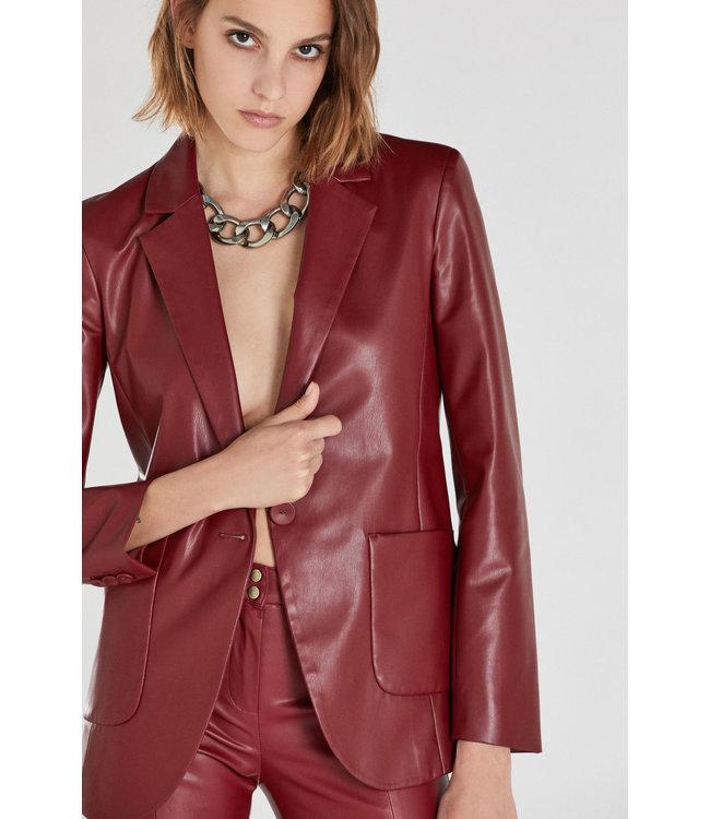 Patrizia Pepe Jacket vegan leather red earth
