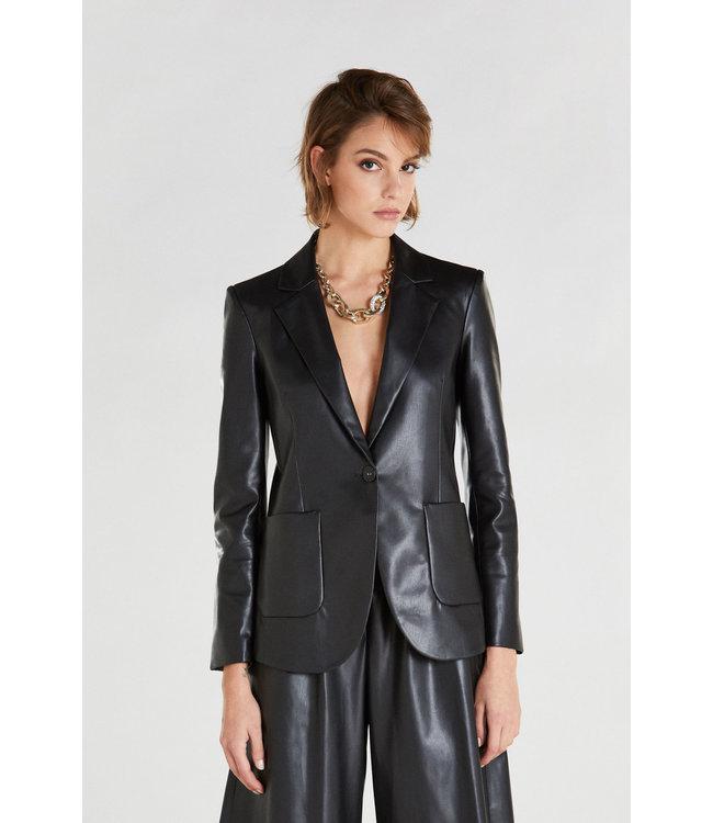 Patrizia Pepe Jacket vegan leather nero