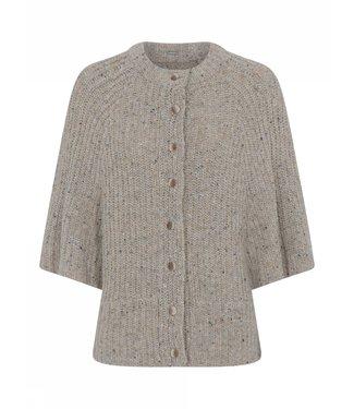 Gustav Junette knit cardi cape pearl