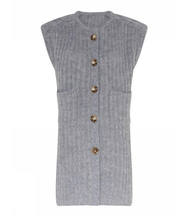 Gustav Jabina knit vest steel