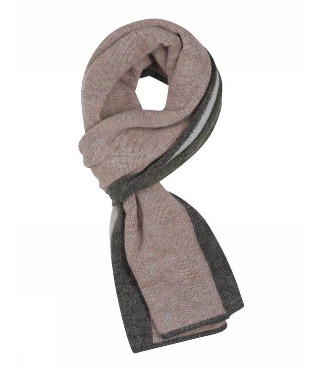 Gustav Etine stripe lurex scarf powder