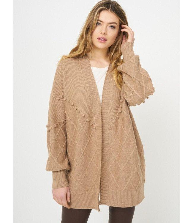REPEAT cashmere Cardigan camel