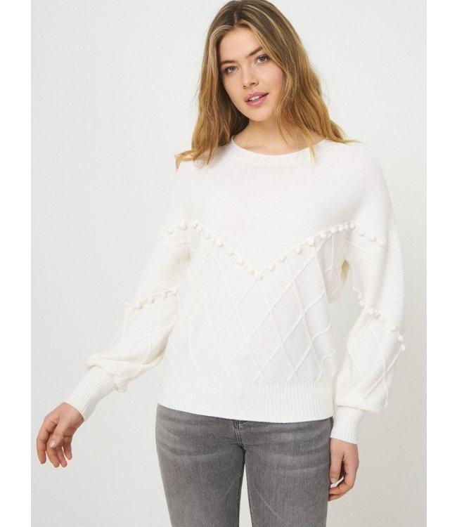 REPEAT cashmere Sweater cream