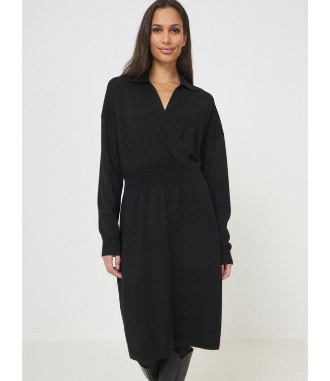 REPEAT cashmere Dress black wool